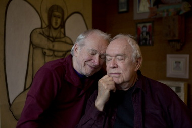 Eric Marcoux, right, and Eugene Woodworth have been a couple for almost 60 years.Photo:Ross William Hamilton/The Oregonian