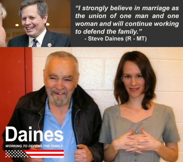 Steve Daines Defending families….
